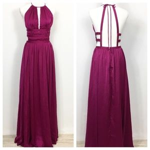 NWT ANGL Maxi Exposed Back Grecian Dress